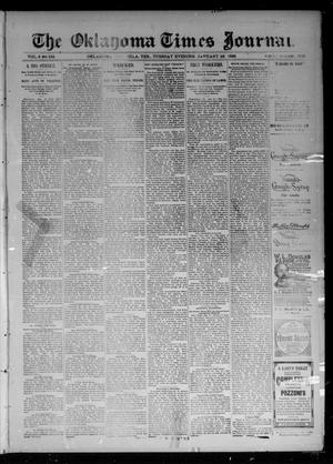 Primary view of object titled 'The Oklahoma Times Journal. (Oklahoma City, Okla. Terr.), Vol. 6, No. 183, Ed. 1 Tuesday, January 22, 1895'.