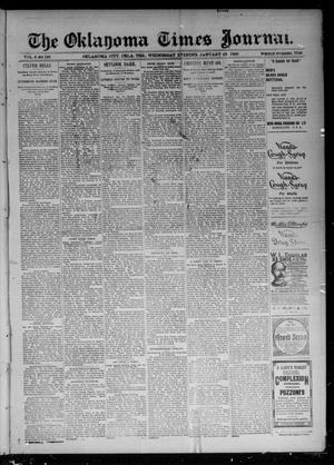 Primary view of object titled 'The Oklahoma Times Journal. (Oklahoma City, Okla. Terr.), Vol. 6, No. 184, Ed. 1 Wednesday, January 23, 1895'.
