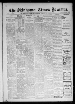 Primary view of object titled 'The Oklahoma Times Journal. (Oklahoma City, Okla. Terr.), Vol. 6, No. 185, Ed. 1 Thursday, January 24, 1895'.