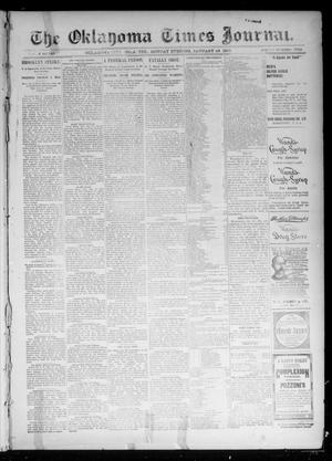 Primary view of object titled 'The Oklahoma Times Journal. (Oklahoma City, Okla. Terr.), Vol. 6, No. 188, Ed. 1 Monday, January 28, 1895'.