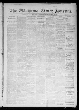 Primary view of object titled 'The Oklahoma Times Journal. (Oklahoma City, Okla. Terr.), Vol. 6, No. 189, Ed. 1 Tuesday, January 29, 1895'.