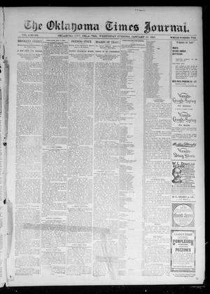 Primary view of object titled 'The Oklahoma Times Journal. (Oklahoma City, Okla. Terr.), Vol. 6, No. 190, Ed. 1 Wednesday, January 30, 1895'.