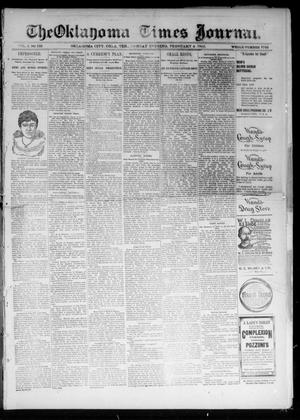 Primary view of object titled 'The Oklahoma Times Journal. (Oklahoma City, Okla. Terr.), Vol. 6, No. 194, Ed. 1 Monday, February 4, 1895'.