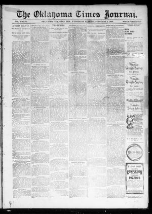 Primary view of object titled 'The Oklahoma Times Journal. (Oklahoma City, Okla. Terr.), Vol. 6, No. 196, Ed. 1 Wednesday, February 6, 1895'.