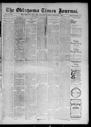 Primary view of object titled 'The Oklahoma Times Journal. (Oklahoma City, Okla. Terr.), Vol. 6, No. 197, Ed. 1 Thursday, February 7, 1895'.