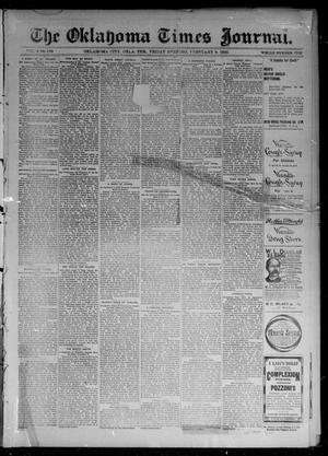 Primary view of object titled 'The Oklahoma Times Journal. (Oklahoma City, Okla. Terr.), Vol. 6, No. 198, Ed. 1 Friday, February 8, 1895'.
