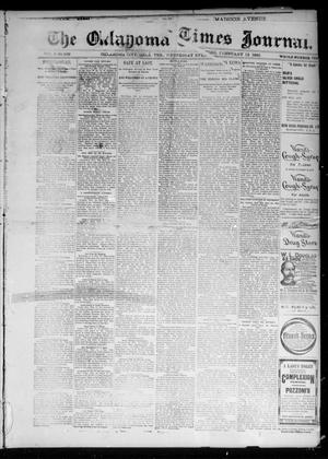 Primary view of object titled 'The Oklahoma Times Journal. (Oklahoma City, Okla. Terr.), Vol. 6, No. 202, Ed. 1 Wednesday, February 13, 1895'.