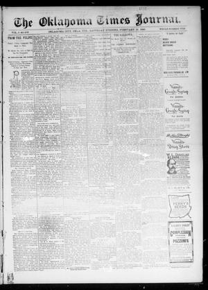 Primary view of object titled 'The Oklahoma Times Journal. (Oklahoma City, Okla. Terr.), Vol. 6, No. 205, Ed. 1 Saturday, February 16, 1895'.