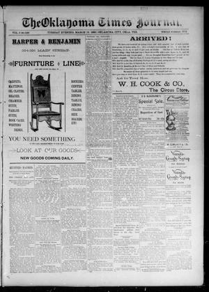 Primary view of object titled 'The Oklahoma Times Journal. (Oklahoma City, Okla. Terr.), Vol. 6, No. 226, Ed. 1 Tuesday, March 12, 1895'.