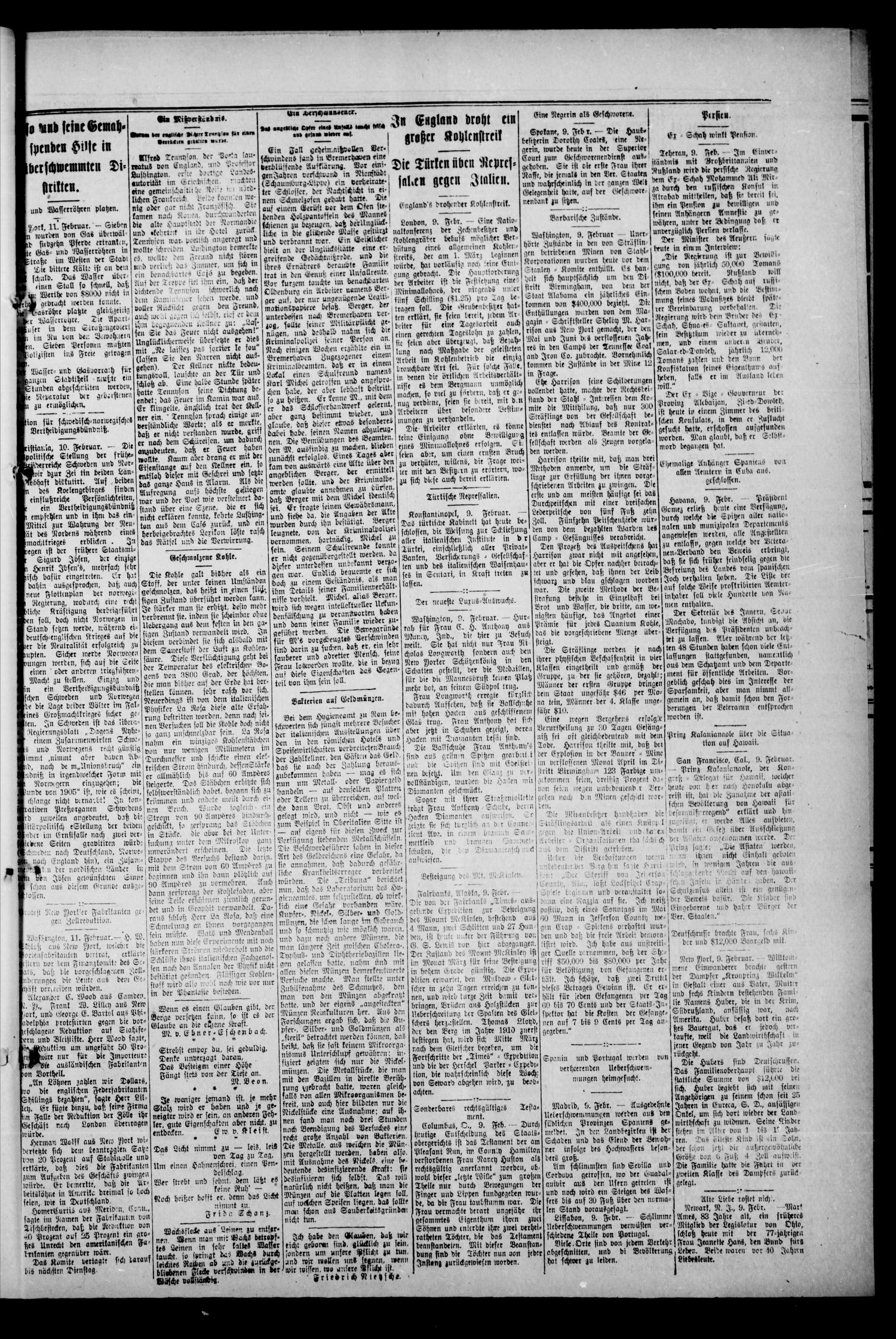 Oklahoma Neuigkeiten. (Perry, Okla.), Vol. 10, No. 42, Ed. 1 Thursday, February 15, 1912                                                                                                      [Sequence #]: 5 of 8
