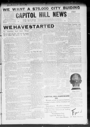 Primary view of object titled 'Capitol Hill News (Capitol Hill, Okla.), Vol. 4, No. 32, Ed. 1 Saturday, May 1, 1909'.