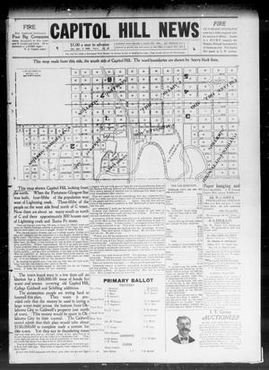 Primary view of object titled 'Capitol Hill News (Capitol Hill, Okla.), Vol. 4, No. 28, Ed. 1 Saturday, April 3, 1909'.