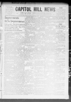 Primary view of object titled 'Capitol Hill News (Capitol Hill, Okla.), Vol. 4, No. 17, Ed. 1 Saturday, January 9, 1909'.