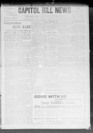 Primary view of object titled 'Capitol Hill News (Capitol Hill, Okla.), Vol. 4, No. 4, Ed. 1 Saturday, October 17, 1908'.