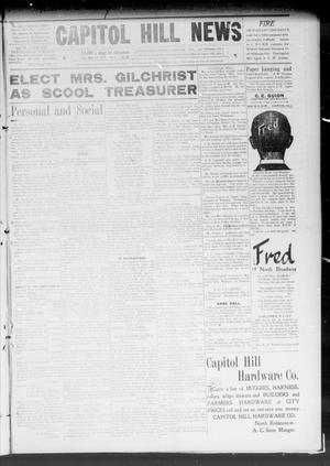 Primary view of object titled 'Capitol Hill News (Capitol Hill, Okla.), Vol. 4, No. 34, Ed. 1 Saturday, May 15, 1909'.