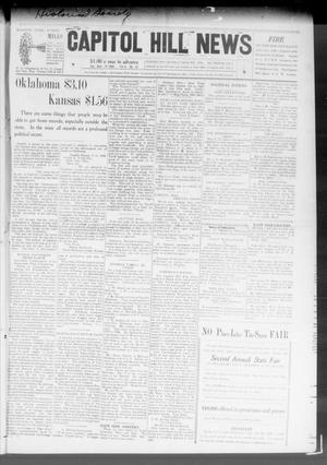 Primary view of object titled 'Capitol Hill News (Capitol Hill, Okla.), Vol. 3, No. 52, Ed. 1 Saturday, September 19, 1908'.
