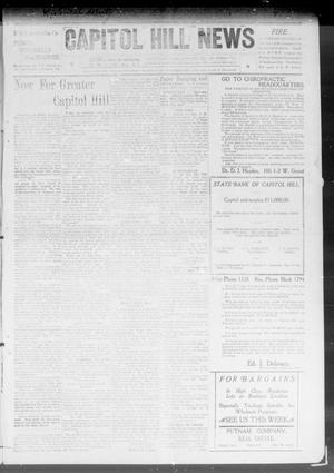 Primary view of object titled 'Capitol Hill News (Capitol Hill, Okla.), Vol. 4, No. 9, Ed. 1 Saturday, November 14, 1908'.