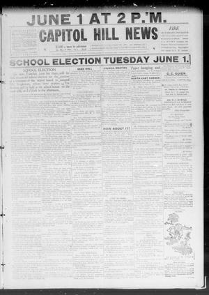 Primary view of object titled 'Capitol Hill News (Capitol Hill, Okla.), Vol. 4, No. 36, Ed. 1 Saturday, May 29, 1909'.
