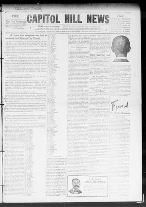 Primary view of object titled 'Capitol Hill News (Capitol Hill, Okla.), Vol. 4, No. 25, Ed. 1 Saturday, March 6, 1909'.