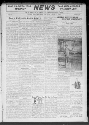 Primary view of object titled 'The Capitol Hill Weekly News The Oklahoma Fairdealer (Capitol Hill, Okla.), Vol. 5, No. 47, Ed. 1 Saturday, August 13, 1910'.