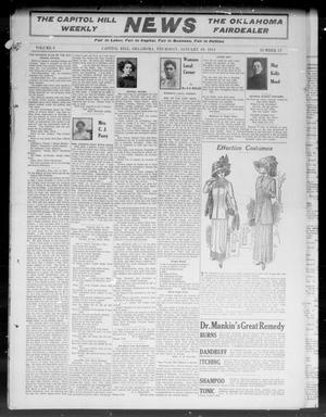 Primary view of object titled 'The Capitol Hill Weekly News The Oklahoma Fairdealer (Capitol Hill, Okla.), Vol. 6, No. 17, Ed. 1 Thursday, January 19, 1911'.