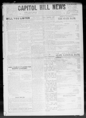 Primary view of object titled 'Capitol Hill News (Capitol Hill, Okla.), Vol. 4, No. 41, Ed. 1 Saturday, July 3, 1909'.