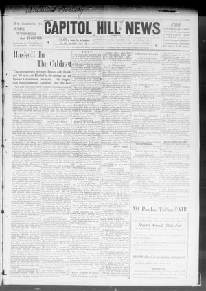 Primary view of object titled 'Capitol Hill News (Capitol Hill, Okla.), Vol. 4, No. 1, Ed. 1 Saturday, September 26, 1908'.