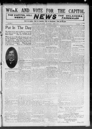 Primary view of object titled 'The Capitol Hill Weekly News The Oklahoma Fairdealer (Capitol Hill, Okla.), Vol. 5, No. 37, Ed. 1 Saturday, June 4, 1910'.