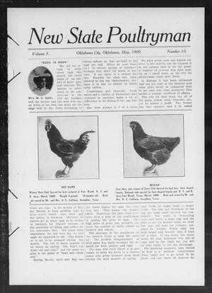 Primary view of object titled 'New State Poultryman (Oklahoma City, Okla.), Vol. 3, No. 10, Ed. 1 Saturday, May 1, 1909'.