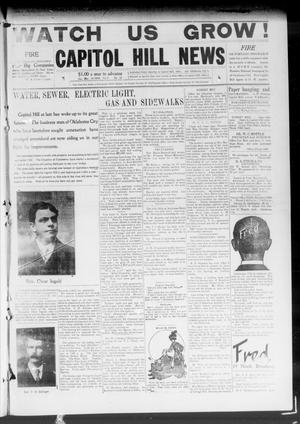 Primary view of object titled 'Capitol Hill News (Capitol Hill, Okla.), Vol. 4, No. 26, Ed. 1 Saturday, March 13, 1909'.