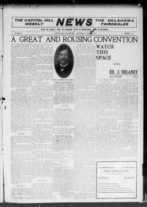 Primary view of object titled 'The Capitol Hill Weekly News The Oklahoma Fairdealer (Capitol Hill, Okla.), Vol. 5, No. 40, Ed. 1 Saturday, June 25, 1910'.
