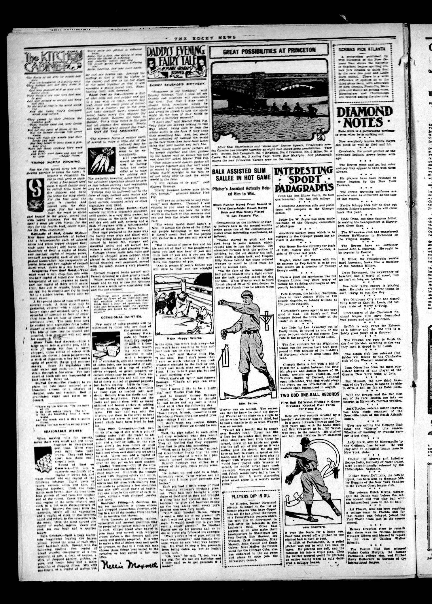 The Rocky News (Rocky, Okla.), Vol. 1, No. 48, Ed. 1 Friday, June 11, 1920                                                                                                      [Sequence #]: 2 of 4