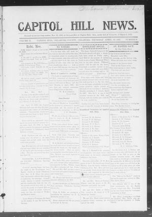 Primary view of object titled 'Capitol Hill News. (Capitol Hill, Okla.), Vol. 2, No. 33, Ed. 1 Thursday, April 18, 1907'.