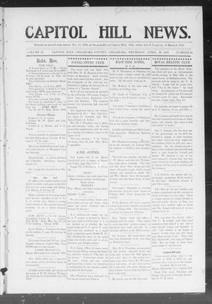 Primary view of object titled 'Capitol Hill News. (Capitol Hill, Okla.), Vol. 2, No. 34, Ed. 1 Thursday, April 25, 1907'.