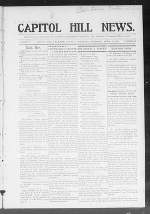 Primary view of object titled 'Capitol Hill News. (Capitol Hill, Okla.), Vol. 2, No. 32, Ed. 1 Thursday, April 11, 1907'.