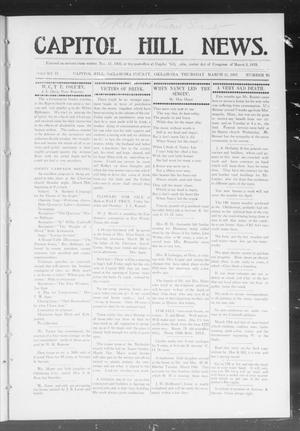 Primary view of object titled 'Capitol Hill News. (Capitol Hill, Okla.), Vol. 2, No. 29, Ed. 1 Thursday, March 21, 1907'.