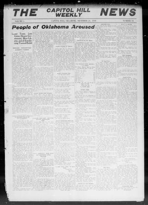 Primary view of object titled 'The Capitol Hill Weekly News (Capitol Hill, Okla.), Vol. 5, No. 14, Ed. 1 Thursday, December 23, 1909'.