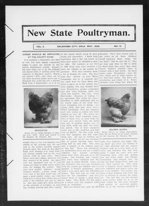 Primary view of object titled 'New State Poultryman. (Oklahoma City, Okla.), Vol. 2, No. 10, Ed. 1 Friday, May 1, 1908'.