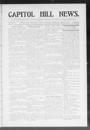 Primary view of object titled 'Capitol Hill News. (Capitol Hill, Okla.), Vol. 2, No. 28, Ed. 1 Thursday, March 14, 1907'.