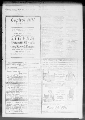Primary view of object titled 'Capitol Hill News. (Capitol Hill, Okla.), Vol. 3, No. 9, Ed. 1 Friday, November 1, 1907'.