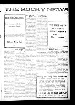 Primary view of object titled 'The Rocky News (Rocky, Okla.), Vol. 1, No. 32, Ed. 1 Friday, February 20, 1920'.