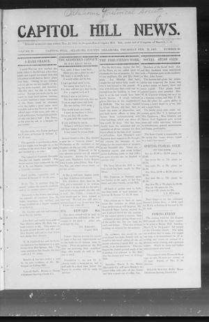 Primary view of object titled 'Capitol Hill News. (Capitol Hill, Okla.), Vol. 2, No. 25, Ed. 1 Thursday, February 21, 1907'.