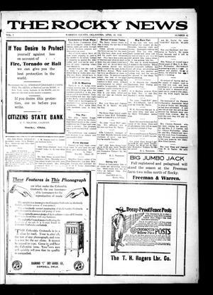 Primary view of The Rocky News (Rocky, Okla.), Vol. 1, No. 42, Ed. 1 Friday, April 30, 1920