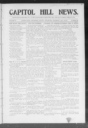 Primary view of object titled 'Capitol Hill News. (Capitol Hill, Okla.), Vol. 2, No. 21, Ed. 1 Thursday, January 24, 1907'.