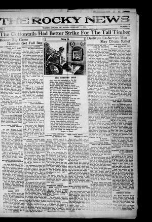 Primary view of The Rocky News (Rocky, Okla.), Vol. 16, No. 31, Ed. 1 Friday, February 11, 1921