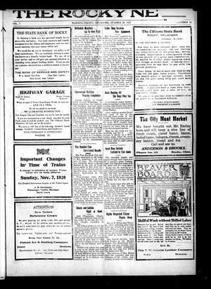 Primary view of The Rocky News (Rocky, Okla.), Vol. 2, No. 16, Ed. 1 Friday, October 29, 1920