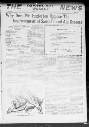 Primary view of object titled 'The Capitol Hill Weekly News (Capitol Hill, Okla.), Vol. 5, No. 1, Ed. 1 Thursday, September 23, 1909'.