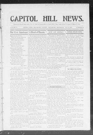 Primary view of object titled 'Capitol Hill News. (Capitol Hill, Okla.), Vol. 2, No. 19, Ed. 1 Thursday, January 10, 1907'.