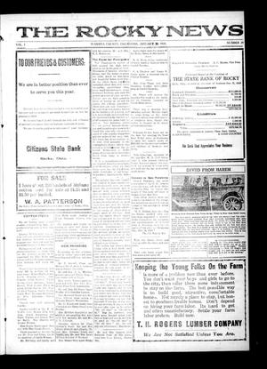 Primary view of object titled 'The Rocky News (Rocky, Okla.), Vol. 1, No. 29, Ed. 1 Friday, January 30, 1920'.