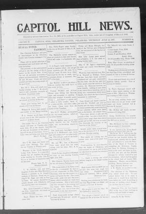 Primary view of object titled 'Capitol Hill News. (Capitol Hill, Okla.), Vol. 2, No. 46, Ed. 1 Thursday, July 18, 1907'.